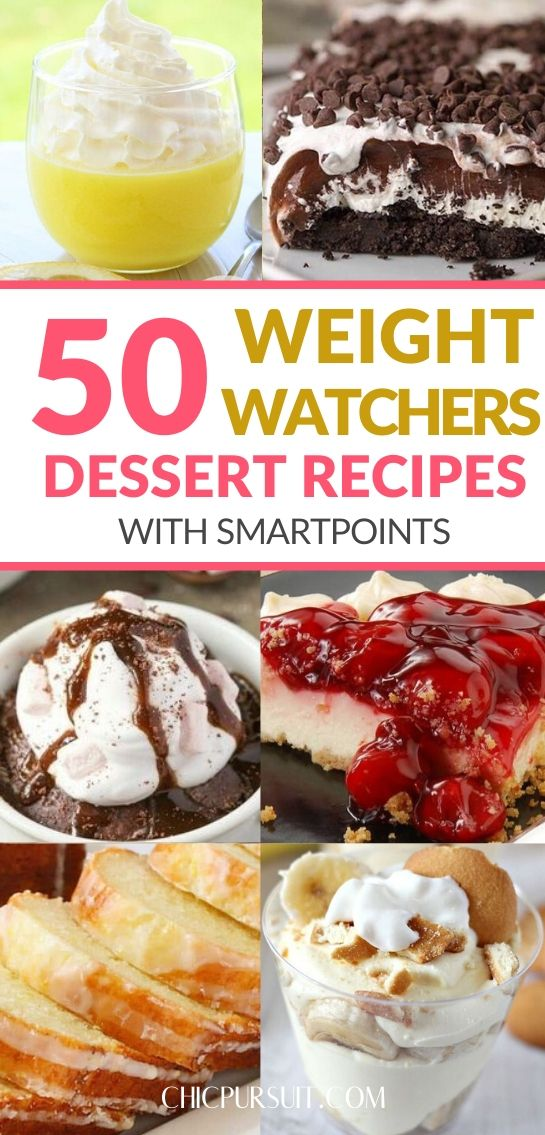 Best Easy Weight Watchers desserts with smart points (recipes included!)