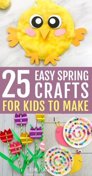 25 Easy Spring Crafts For Kids That Will Brighten Up Rainy Days