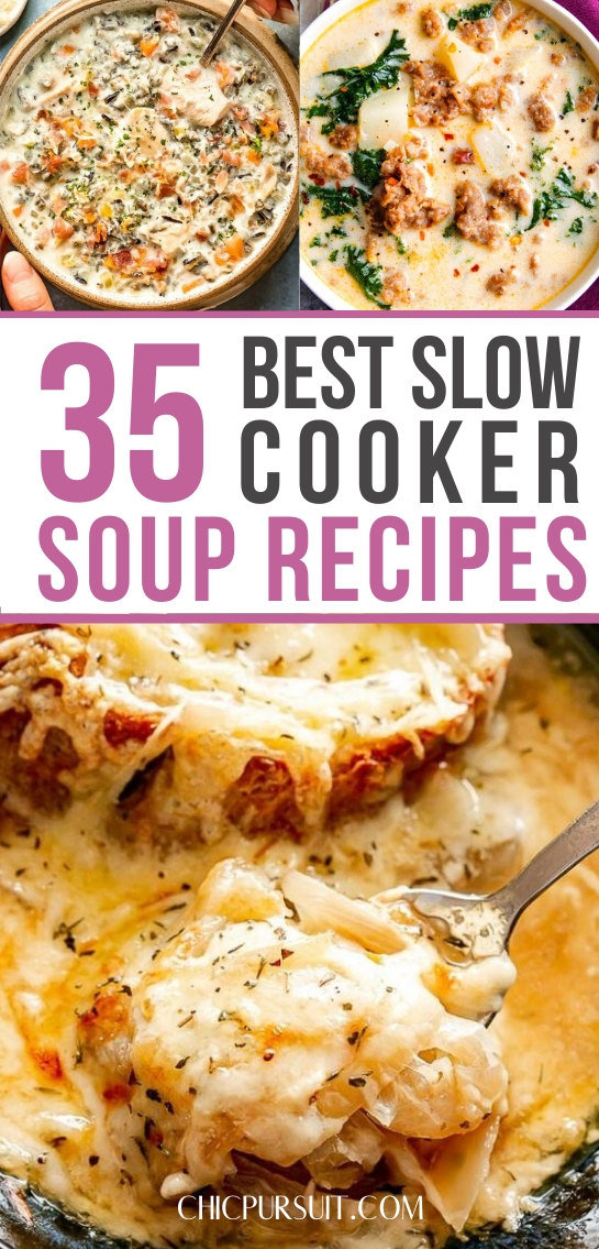 Easy & healthy slow cooker soup recipes