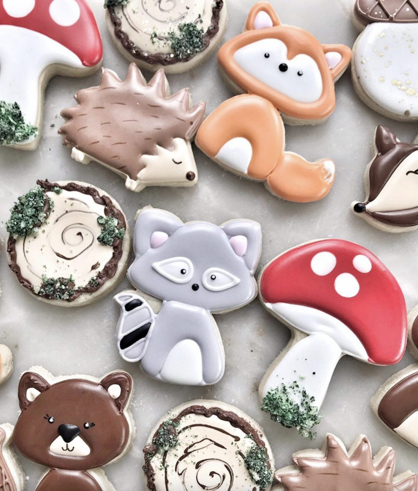 Woodland Animals Baby Shower Cookies