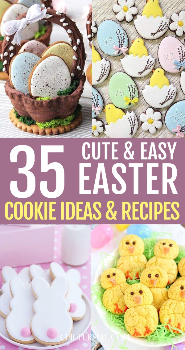 Cute decorated Easter cookies and easy Easter cookie ideas