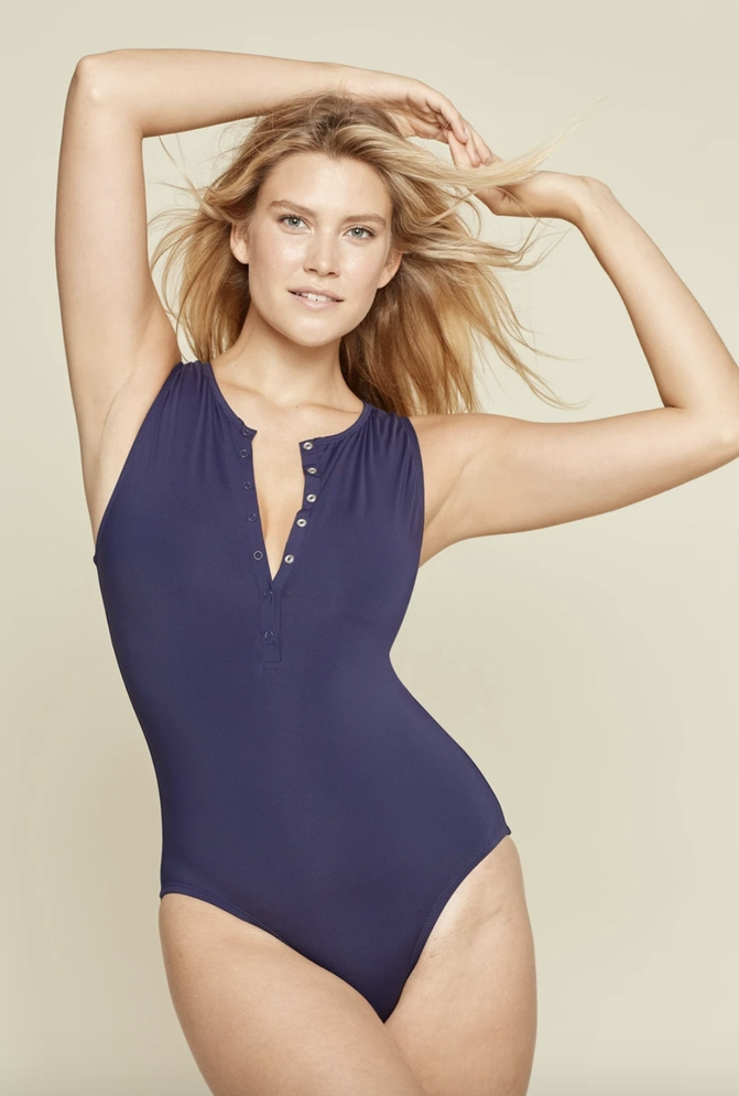 Navy one piece swimsuits