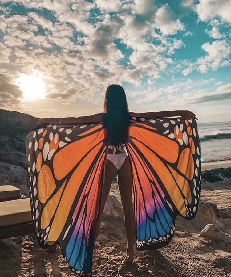 Butterfly wings festival look perfect for Burning Man