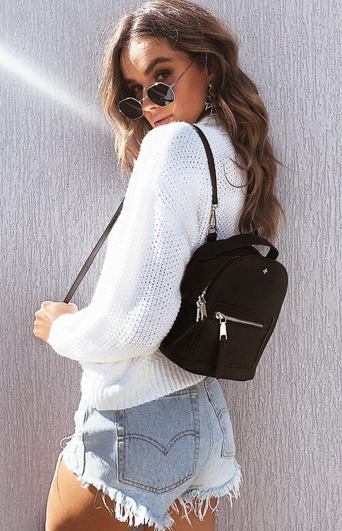 Casual outfit with backpack