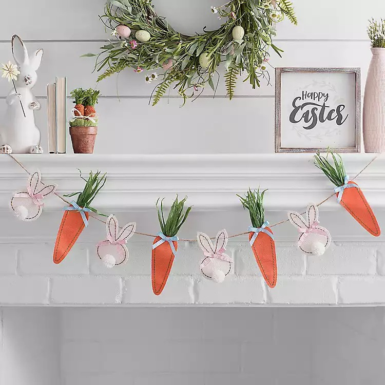Easter Bunnies and Carrots Garland