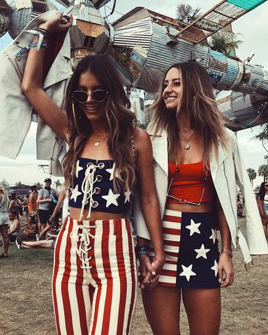 Duo festival outfits for best friends - 4th of July outfits