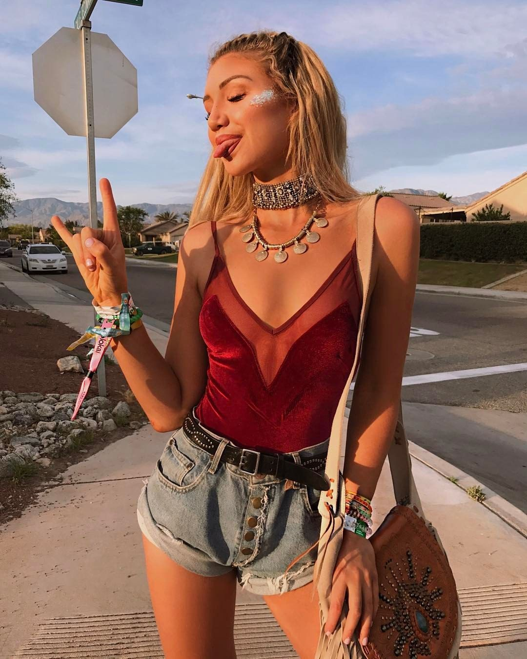 Cute festival outfits worn by Gabby Epstein