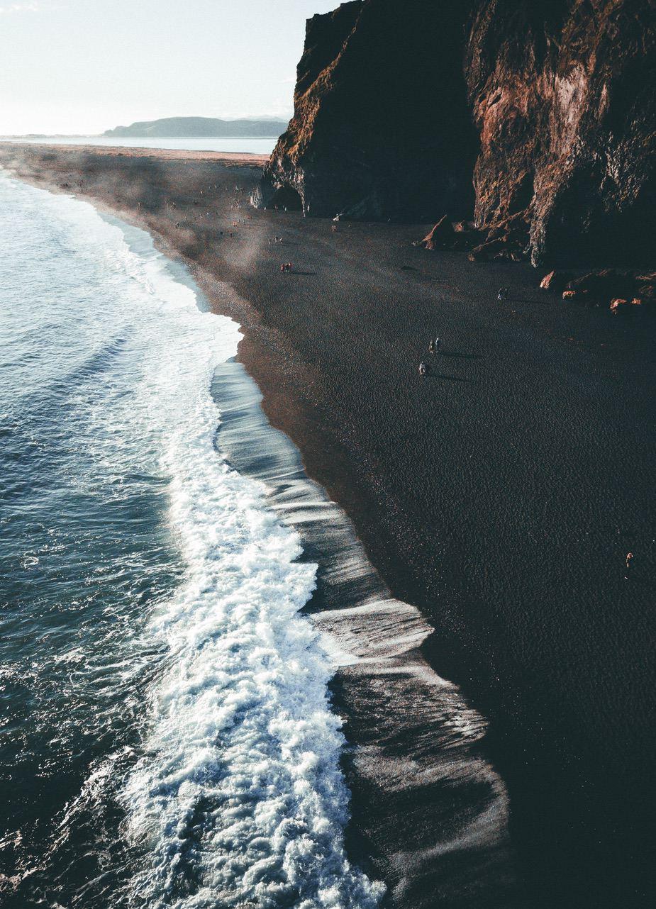 Beautiful nature wallpapers for iPhone - dark beach wallpaper