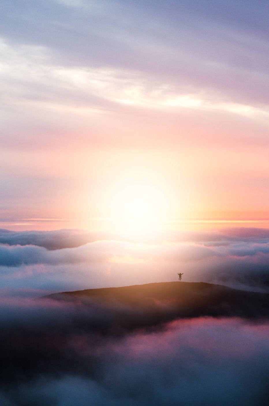 Cloud aesthetic wallpaper with sunrise