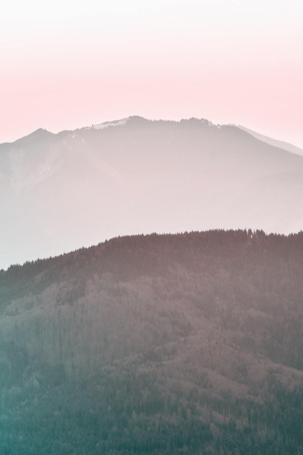 Pink mountain iphone wallpaper with sunrise