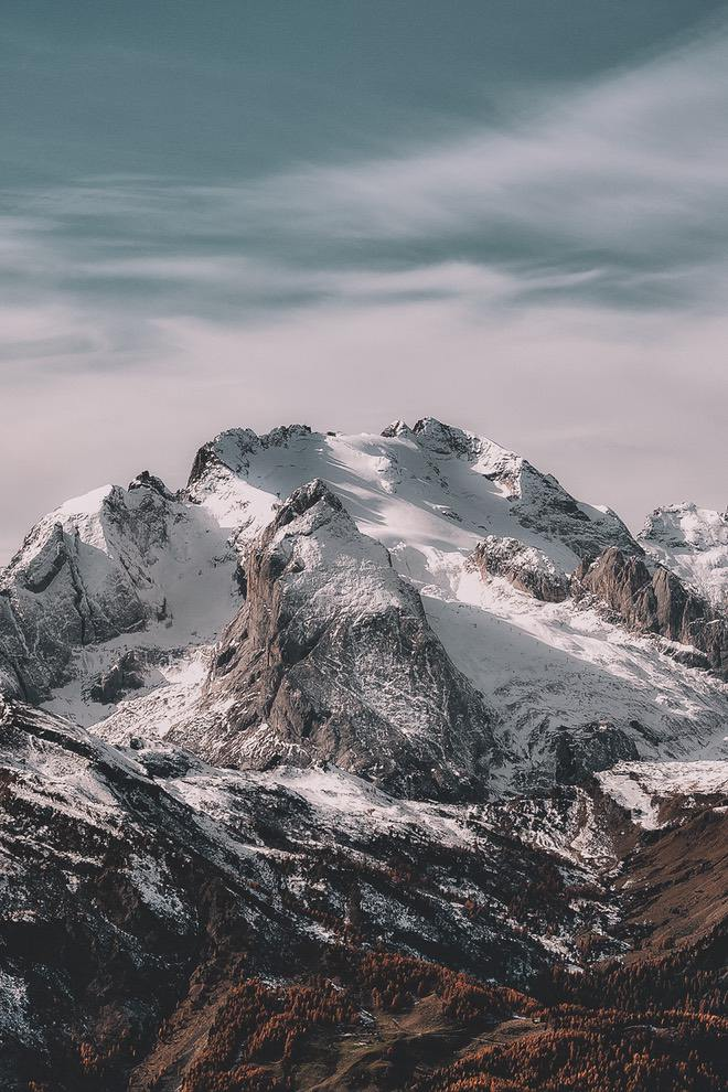 Snowy mountain wallpaper iPhone