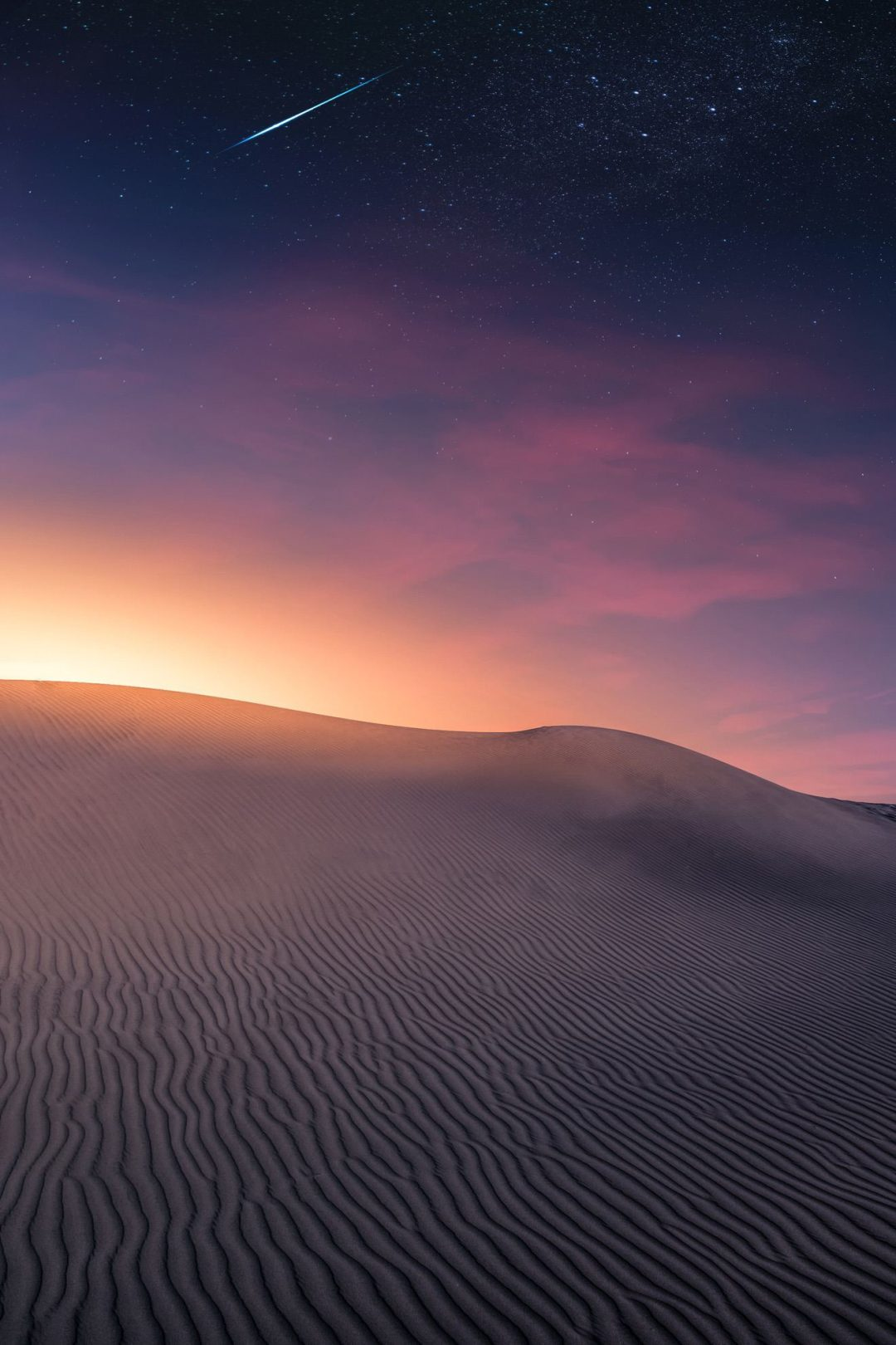 Dark night sky desert wallpapers for iPhone