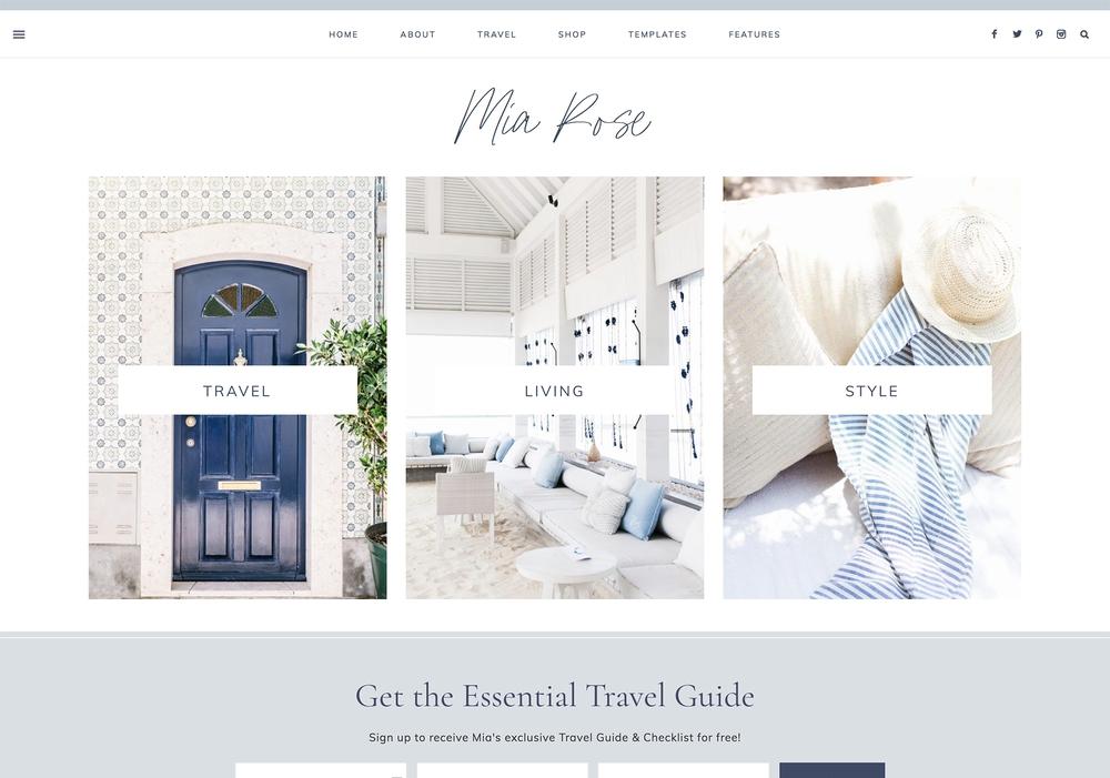 Feminine blog design by 17th Avenue