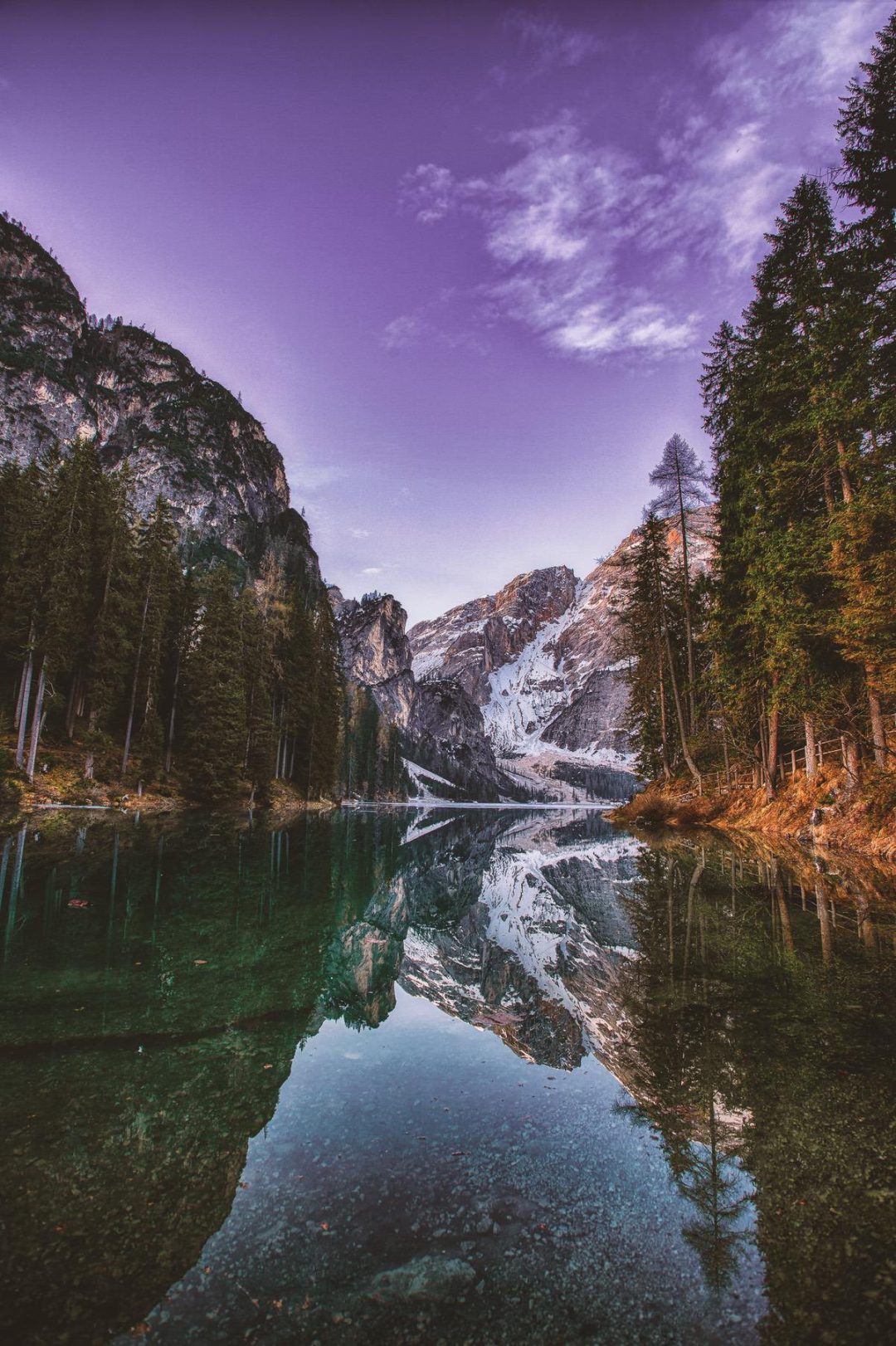Beautiful nature wallpapers for iPhone - lake wallpapers with mountains and forest