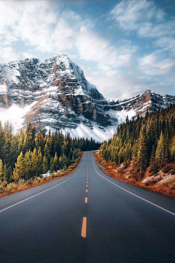 Mountain backgrounds for iPhone with a road, mountain photography