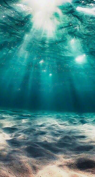 Underwater ocean iPhone wallpaper