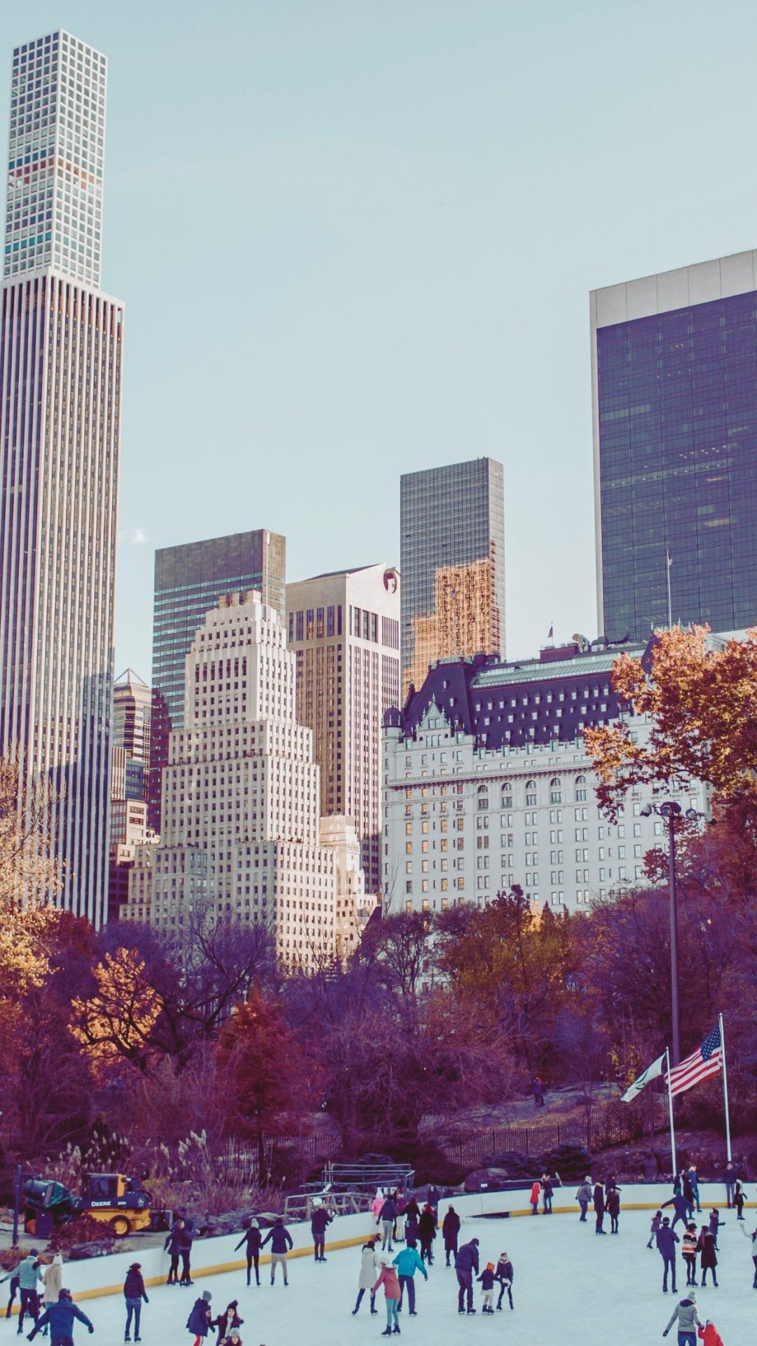 New York City iPhone wallpaper with central park