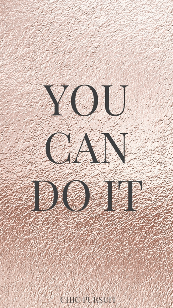 Rose gold quote wallpapers