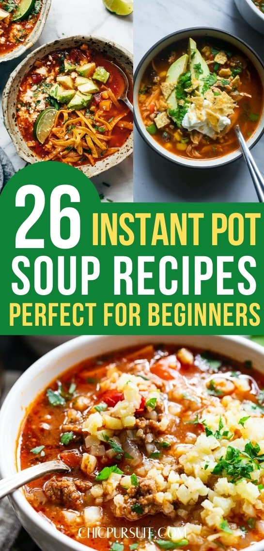 The best easy and healthy instant pot soup recipes