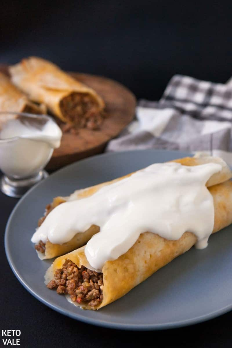 Keto Mexican Beef Taquitos With Cheese Shells