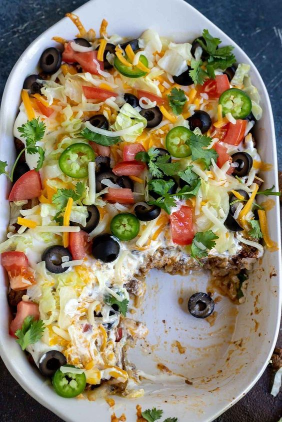 Best keto Mexican food recipes: Low Carb Taco Casserole