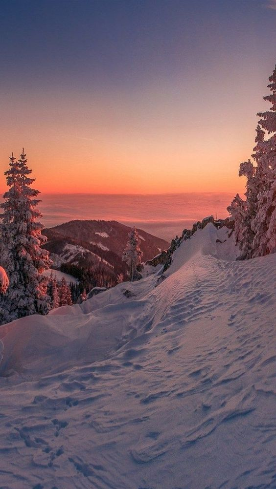 Snowy mountain wallpaper iphone, mountain wallpaper with snow and sunset for iPhone
