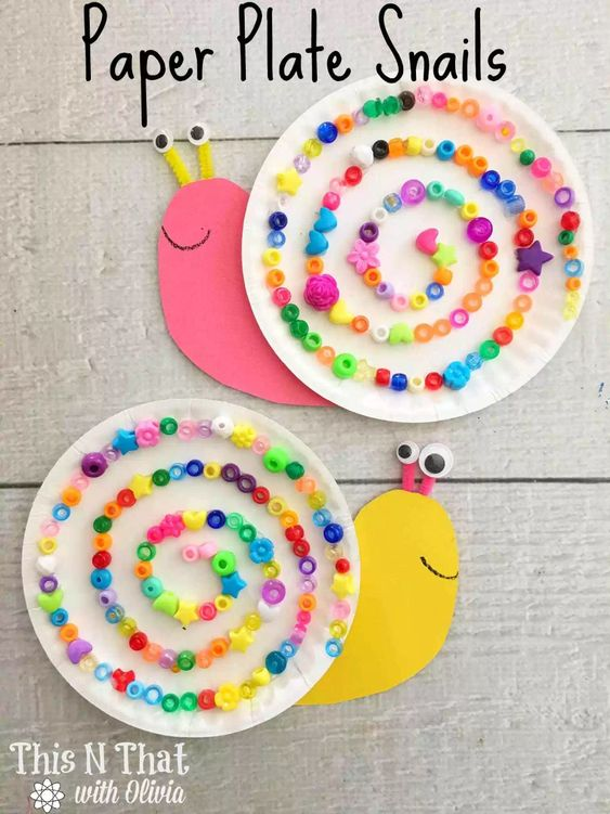 Easy Paper Plate Paper Plate Snails
