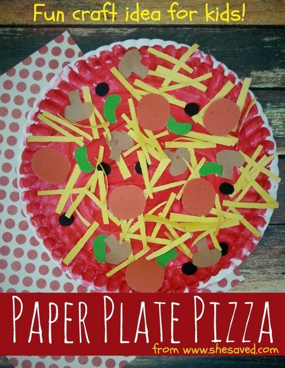 Easy Paper Plate Pizza