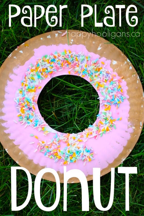 Paper Plate Donut Craft