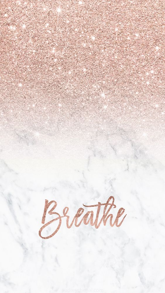 Cute rose gold iphone wallpaper with glitter