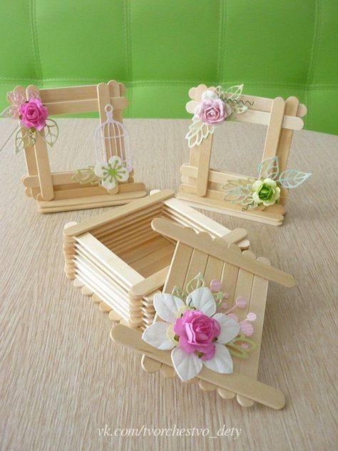 Easy Wooden Popsicle Stick Craft