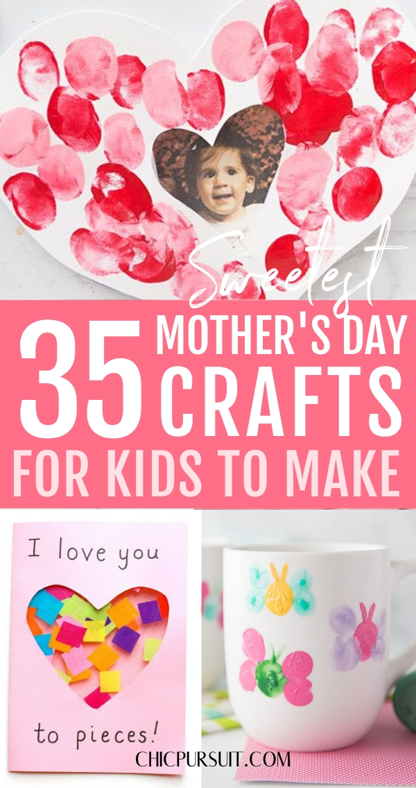 35 Easy Mother's Day Crafts For Kids To Make That Are Super Sweet