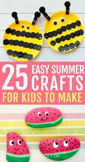 25 Fun & Easy Summer Crafts For Kids To Make At Home