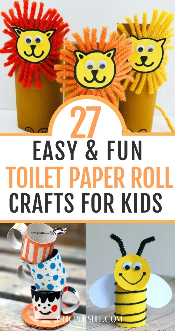 27 Easy Toilet Paper Roll Crafts For Kids That They Will Love