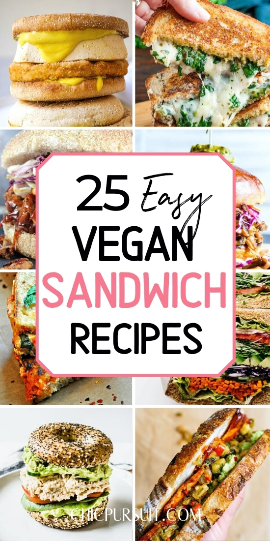 The best easy vegan sandwich recipes and homemade vegan sandwiches for lunch