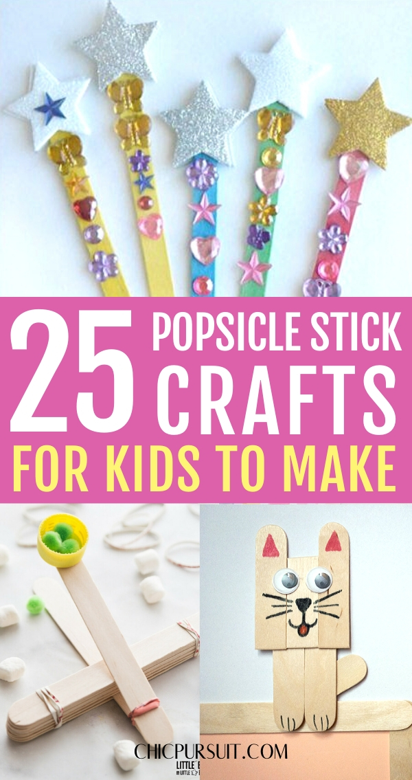 Easy popsicle stick crafts for kids, crafts with popsicle sticks
