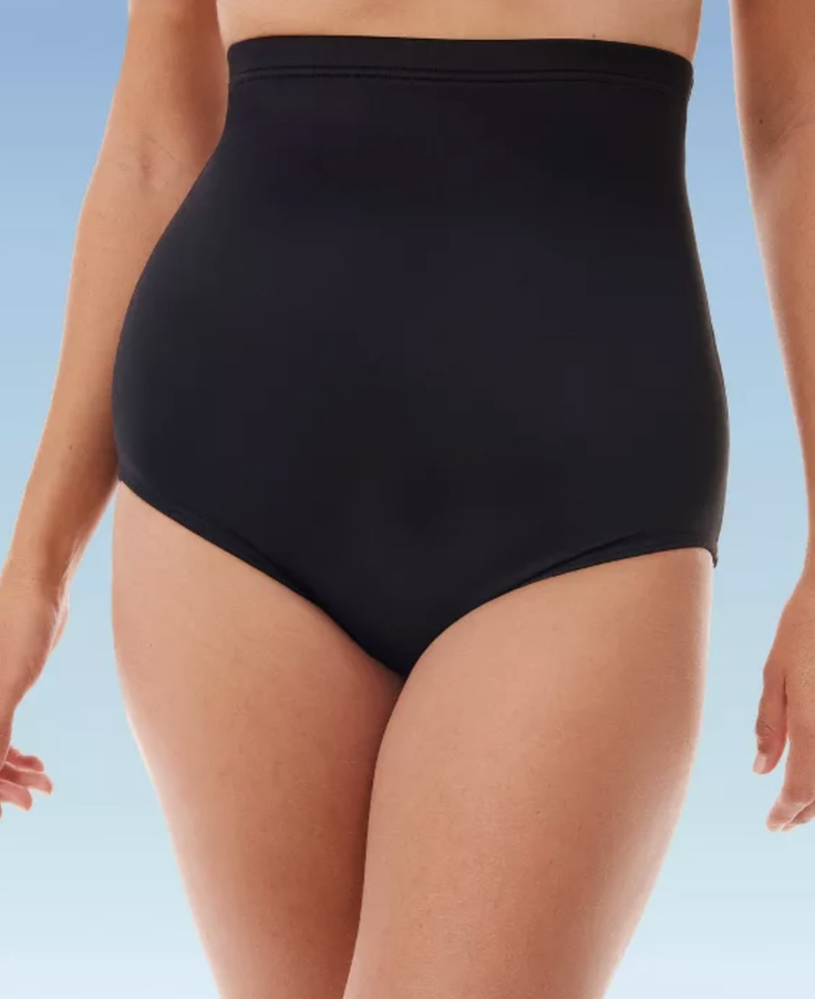 Black high waisted bikinis to cover belly fat