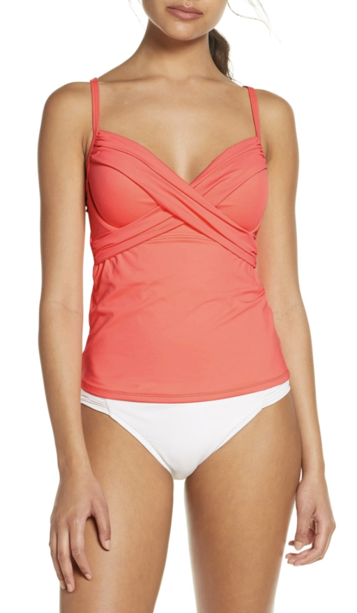 Coral peach swimsuits that cover stomach