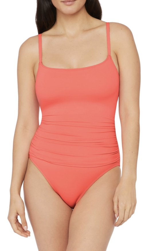 Coral swimsuits that cover stomach