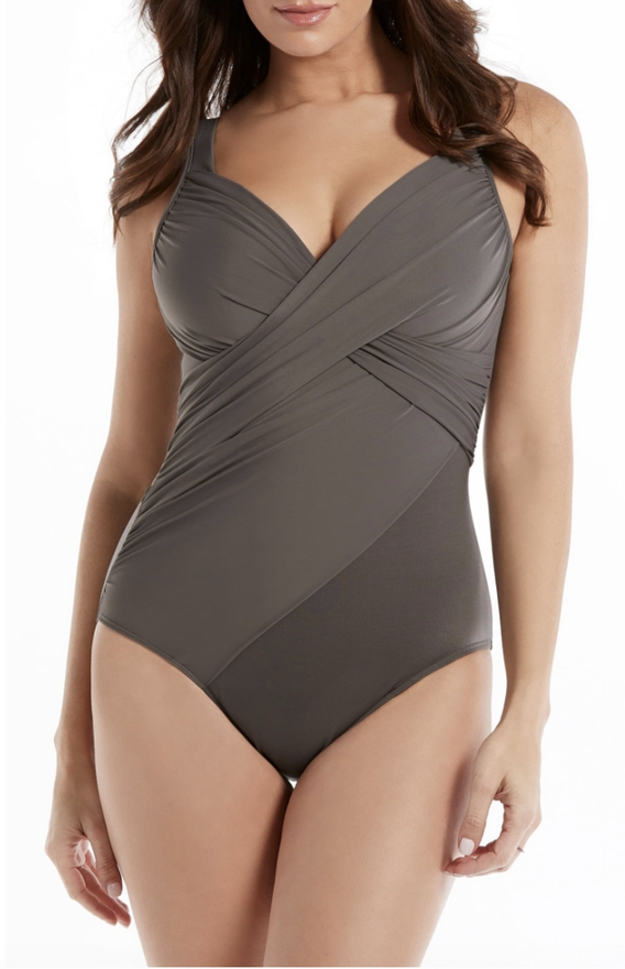 Brown swimsuits to hide belly pooch