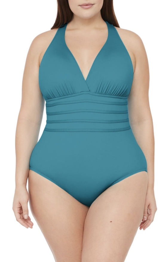 Turquoise blue swimsuits that cover stomach
