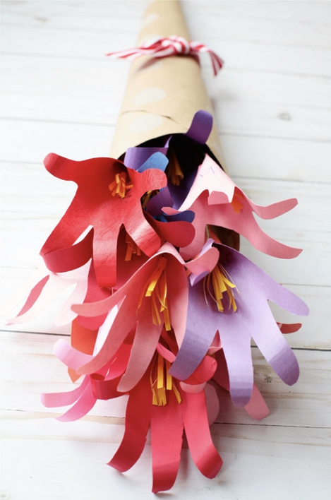 Easy Mother's Day Crafts For Kids: Handprint Flower Bouquet
