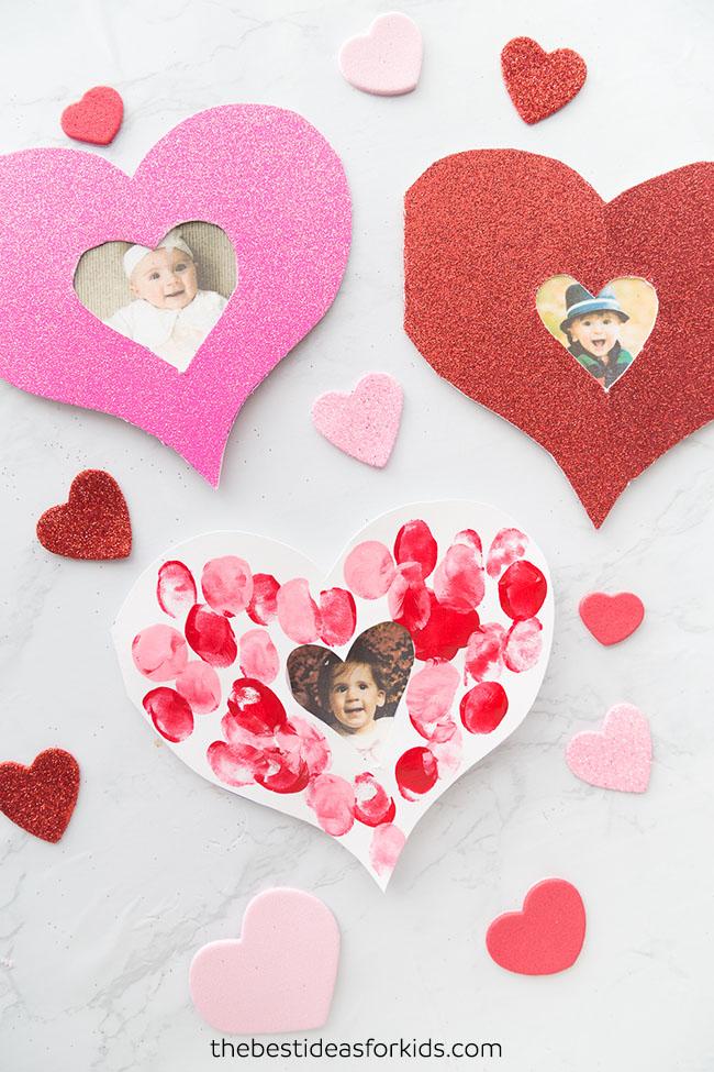 Easy Mother's Day Crafts: Fingerprint Heart Card
