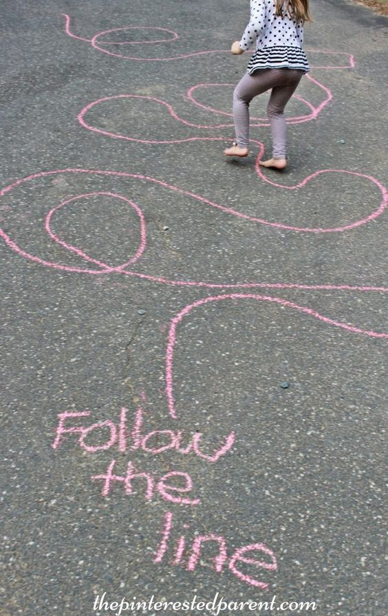 Summer activities with chalk for kids