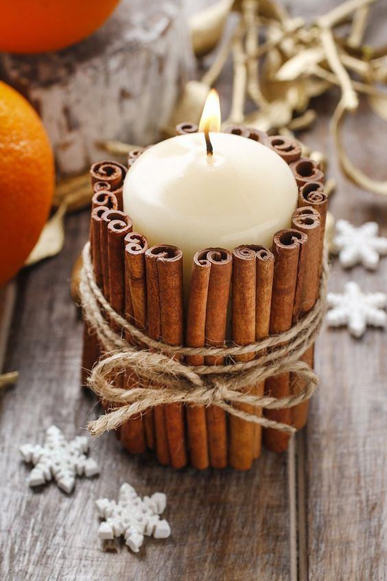 Unique crafts to make and sell: Cinnamon Stick Candle