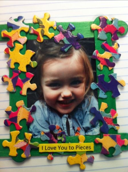 Easy Mother's Day Crafts For Kids: I Love You to Pieces Picture Frame