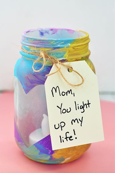 Easy Mother's Day Crafts For Kids: Mason Jar Votive