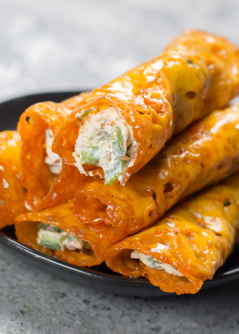 Keto Jalapeño Poppers Taquitos with Bacon