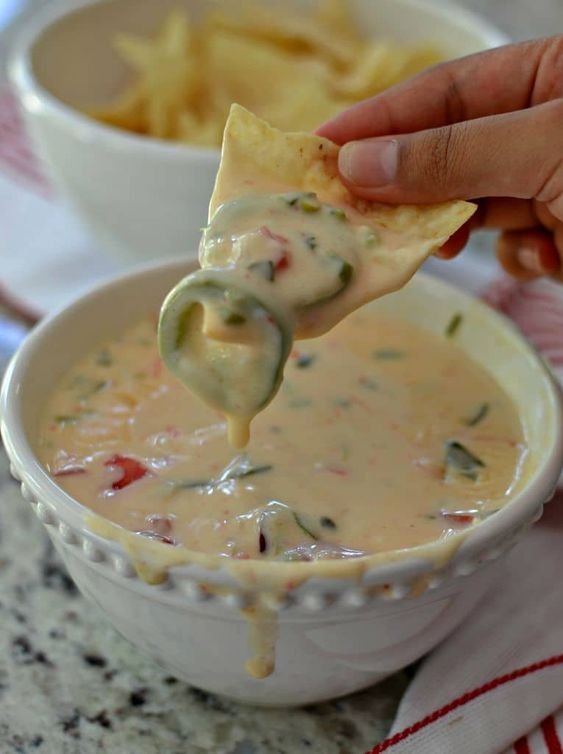 Authentic Mexican Food Recipes: White Queso Dip