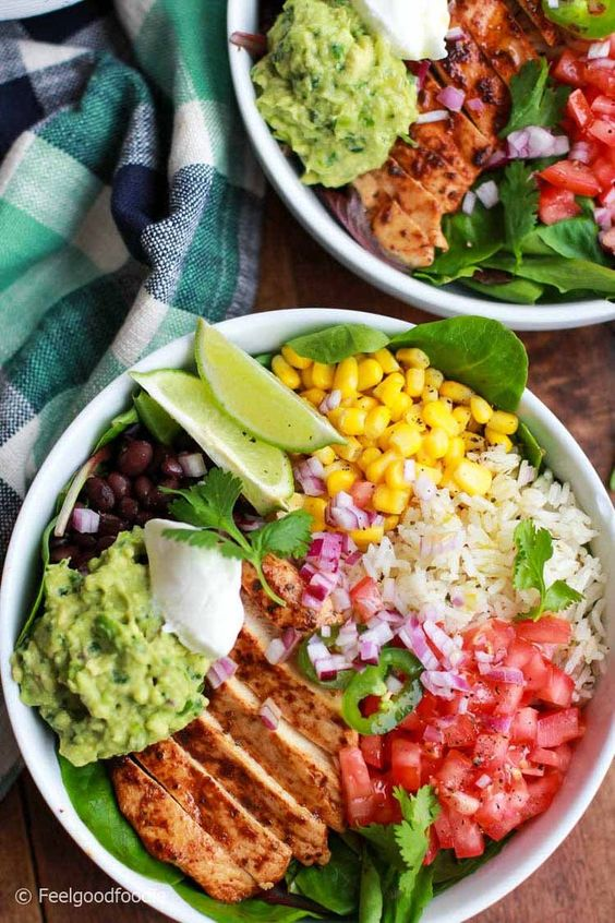 Easy & Authentic Mexican Food Recipes: Chicken Burrito Bowl